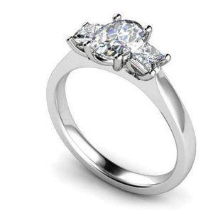 Jewelry - Oval and princess cut 2.50Ct diamonds Wedding ring